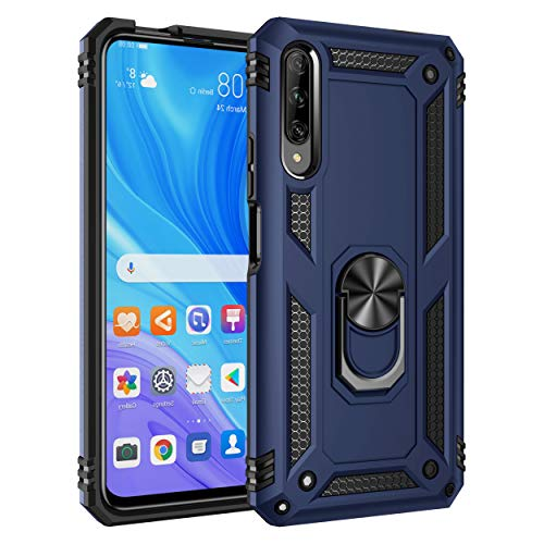 Huawei Y9S / Honor 9X Pro/P Smart Pro 2019 Case, Ranyi Dual Layer Armor Case with 360 Ring Holder Kickstand Shock Absorbing Protective Case for Huawei Y9S/Honor 9X Pro/P Smart Pro 2019 -Blue