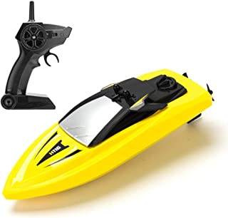 RC Boat Remote Control Boats for Pools and Lakes, ROTOBAND H116 14km/h Self Righting High Speed Boat Toys for Kids Adults Boys Girls(Yellow)