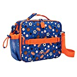 Bentgo Kids Prints Lunch Bag - Double Insulated, Durable, Water-Resistant Fabric with Interior and Exterior Zippered Pockets and External Bottle Holder- Ideal for Children of All Ages (Sports)
