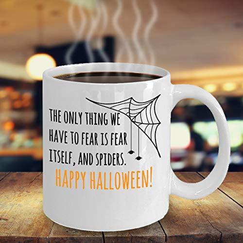 Gelukkig Halloween Spinnen Arachnophobia Trick Behandel Kostuum Enge Partij Souvenir Giveaways Ideeën Snoephouder Koffie Mok Theekop 1811 J