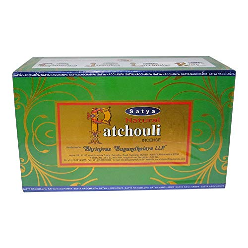 Natural patchouli incenso–by Satya Nag Champa–Confezione da 15g x 12scatole–180g totale