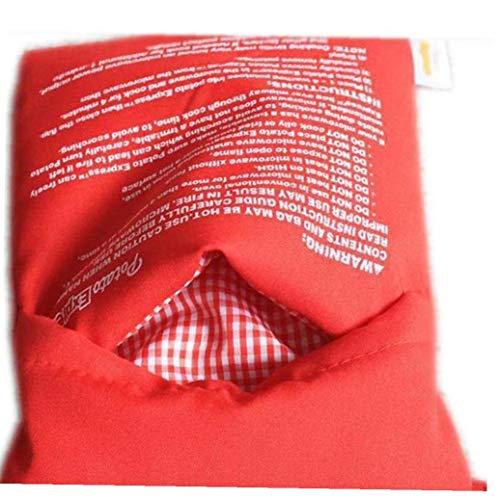 NaisiCore Red Waschbar Mikrowelle Kartoffel-Tasche Backen Kochen Tasche Cooker Tasche Gebackene Kartoffeln Reis Tasche Ofen Schnell Fast Red
