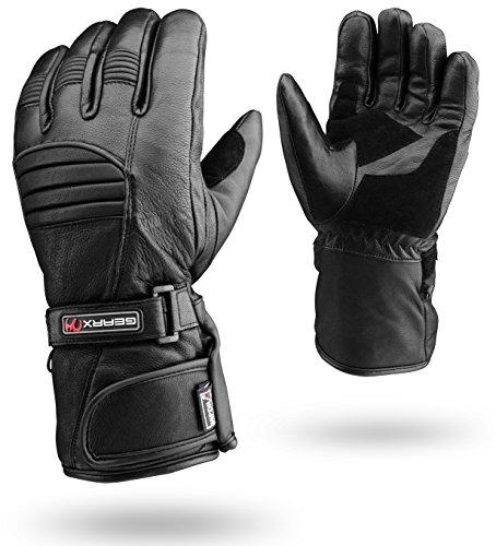 Winter Leder Motorrad Handschuhe Reflektierendes Wasserfest Gepolstert Thermo - XL