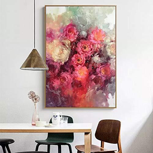 Leinwanddrucke Red Rose Wandkunst Bild Kunstwerk onhome Dekor Wohnzimmer80x120cmRahmenlose Malerei