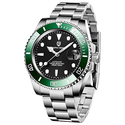 Pagani Design Men's Watches Japanese Automatic Mechanical 40mm Sport Waterproof Stainless Steel Sapphire Glass Wrist Watch