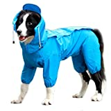 """XXL size best fit neck girth 19"""", breast girth 32"""", body length 30"""" Who says functional raincoats can't be cute? Easy to put on and comfortable to your little baby. Removable hat and leash hole for easy connection. Made of superb quality waterproof l..."""