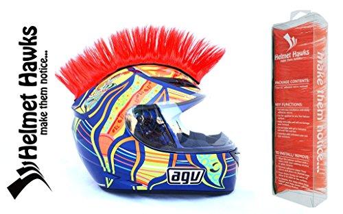 Helmet Hawks Motorcycle Helmet Mohawk w/Sticky Hook and Loop Fastener Adhesive - Deep Ocean Blue