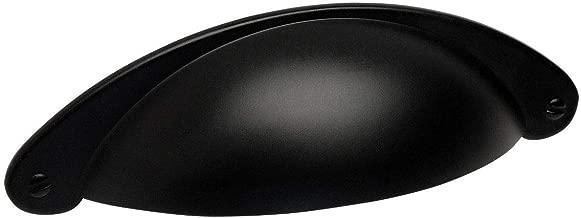 10 Pack - Cosmas 4199FB Flat Black Cabinet Hardware Bin Cup Drawer Handle Pull - 3