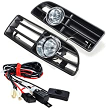 Heart Horse Front Fog Light Lamp Day Running Lights Lower Compatible with Volkswagen Golf MK4 GTI TDI 6000K 1999-2004
