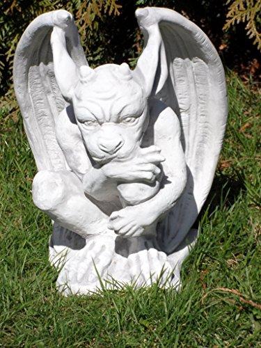Arbrikadrex Gargoyle Torwächter Massive Steinfigur Gnom Drache Kobold für innen und außen, ideal auch als Geschenk