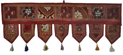 Charming Designer Vintage Handmade indischen Wandbehang Tapisserie mit Stickereien, 147 x 86 cm