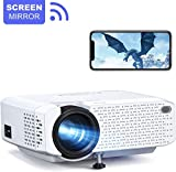 Crosstour Wi-Fi Projector, Mini Phone Projector, Wireless Home Cinema Supports Full HD, 30000
