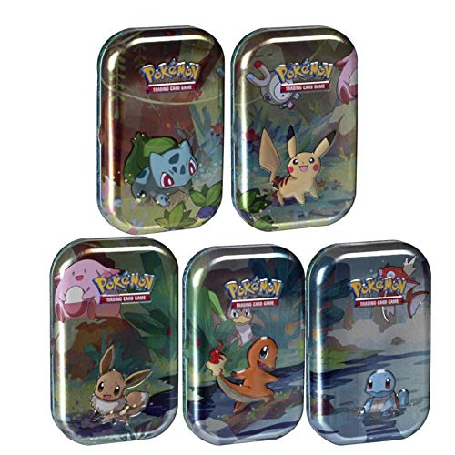 Pokemon Kanto Friends Mini Tin 5 Pack Bundle | Featuring Pikachu,...