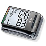 "Beurer BC81 Wrist Blood Pressure Monitor, Adjust. Large Cuff | Automatic & Digital, 2x60 Reading Memory, XL Display, Irreg. Heartbeat, Cuff Circ. 5.3""–9.1"" Home Use BP Machine Kit High BP Detector"