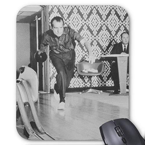 President Richard Nixon Bowling At the White House Mouse Pad