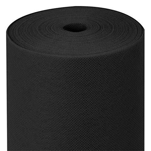 García de Pou Mantel Spunbond Precortado, 60 G/M2, Negro, 1.2 m x 50.4 m