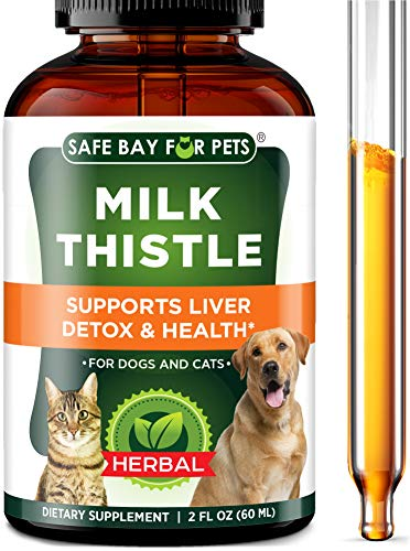 Milk Thistle for Dogs & Cats - Liver Support & Detox Supplement - Made in USA - Natural Milk Thistle Extract Drops - Cruelty-Free & Non-GMO - 2 Oz