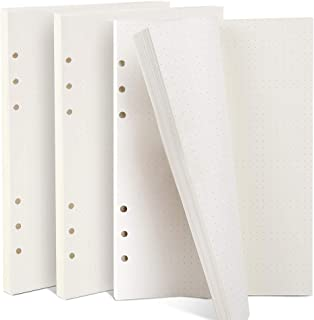A5 Refill Paper Refillable Paper Dotted Filler Paper Loose Leaf Paper 6-Holes Inserts 135 Sheets 270 Pages