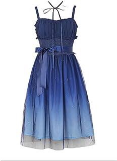 b1127168267 BLESSI Women s Lolita Dark Night Sky Print Gradient Color Dress