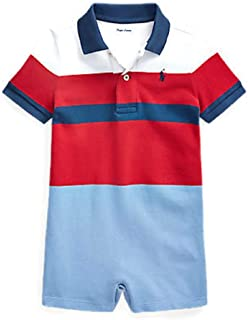 لباس قصير للأطفال من Ralph Lauren مصنوع من القطن بنسيج شبكي من قماش قطني مضلع