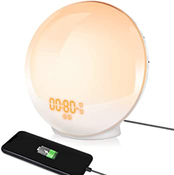 TITIROBA Wake Up Light Sunrise Alarm Clock
