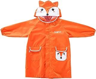 LHY- Raincoat S/M/L Children's raincoat Primary School Pupil, boy, Girl, Child, Cartoon, raincoat Convenient (Color : Orange, Size : S)
