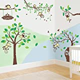 Rainbow Fox Wandtattoo Wandsticker Eule Baum Giraffe we Kinderzimmer Baby (RF1205+RF1206+RF1207)