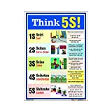 buysafetyposters.com - Think 5S Poster In Hindi Superior Quality Flex A2 (18 Inch X 24 Inch)