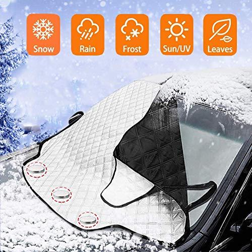 Rhelf Super dickes Winter Eis/Frost/regen Schatten Windschutzscheibe Schutz, Stern Auto Windschutzscheibe Schneedecke All-Dachfenster-Schutzabdeckung, Allwetter-Schutzabdeckung for SUV Auto (groß)