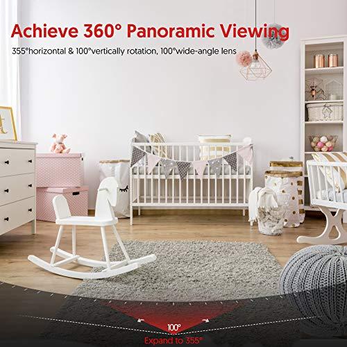 Victure 1080P Caméra Surveillance WiFi avec Detection de Sonore, Caméra Intérieur avec Vision...