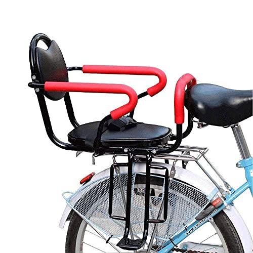 RVTYR Asiento de Montaje Trasero para niños para Bicicleta para Adultos Bicicleta Trasera Trasera con cojín cojín de Asiento de Bicicleta