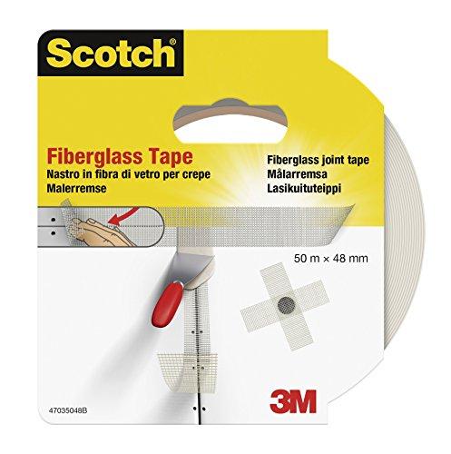 Scotch 302048 Fugenband selbstklebendes Glasgittergewebe, 48 mm x 50 m, weiß