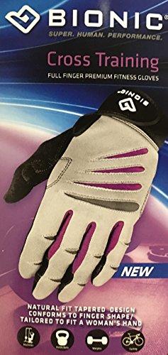 BIONIC Women's Premium Full Finger Fitness Gloves