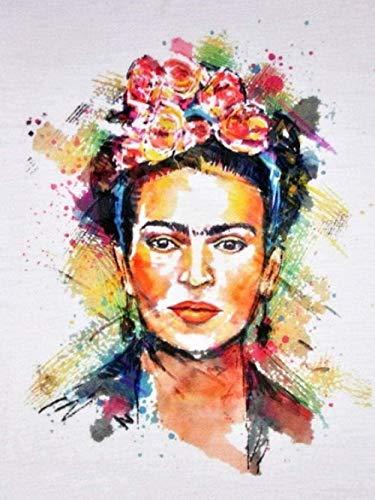 Nueva pintura por números para adultos, niños, retrato colorido de Frida Kahlo, pintura digital DIY por kits de números sobre lienzo 🔥