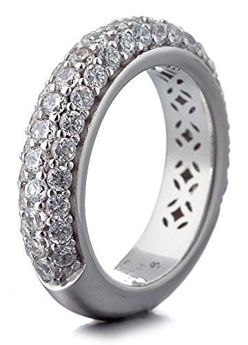 ESPRIT Damen-Memoir-Ringe 925 Sterling Silber zirkonia - Ringgröße 57 (18.1) ELRG91400A180