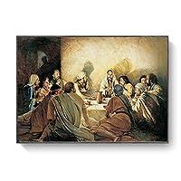 帆布の絵 壁の芸術ポスターとプリントの最後の晩餐の有名なアートキャンバスの絵画リビングルームの装飾のためのイエスのキャンバスの写真 40x60cm