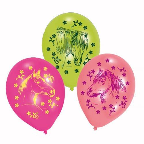 PARTY DISCOUNT ® Luftballon Pferde, 6 Stück