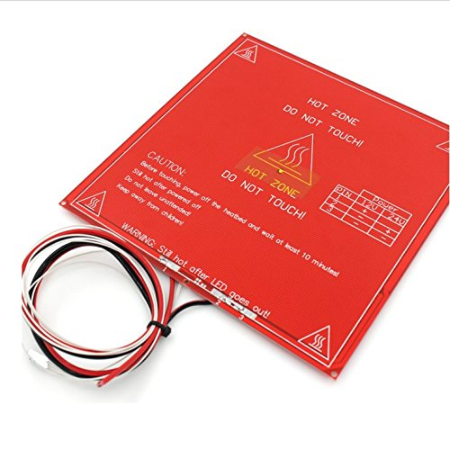 MK2B Heated Bed with Soldered NTC 3950 Thermistor – 3D Printer PCB Heatbed for MakerBot RepRap UP Mendel I3 Printer