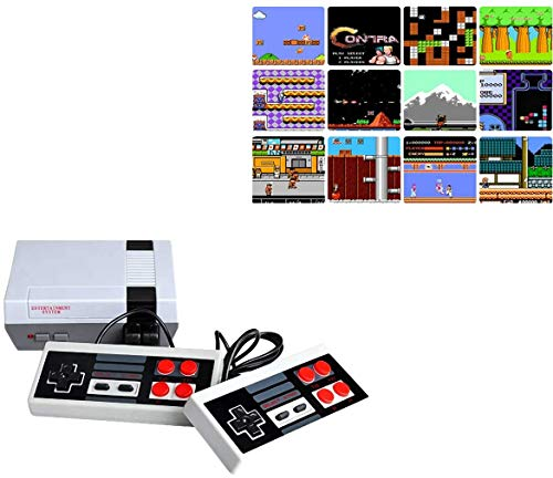 MrDeal 620 Retro Classic Video Game Console AV Output Mini NES Console 620 in 1 Built-in Plug and Play Video Games with 2 Controllers Handheld Games for Kids & Adults (Small)