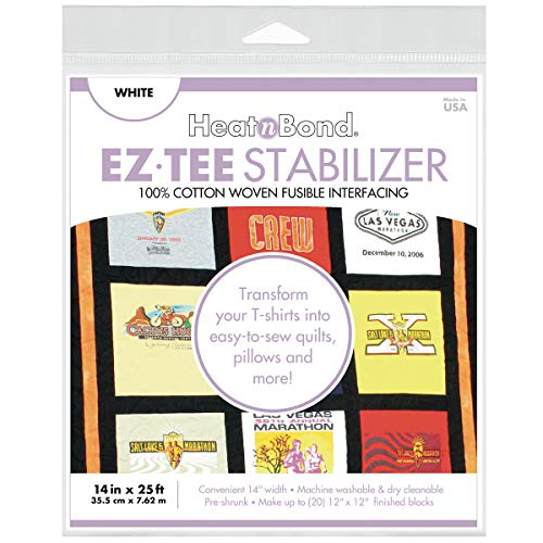 HeatnBond EZ TEE Woven Fusible Stabilizer, 14 Inches x 25 Feet, White