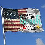 Elaine-Shop Banderas al Aire Libre Bandera de EE. UU. Descansando Cara de Playa 4 * 6 pies Bandera para decoración del hogar Fanático de los Deportes Fútbol Baloncesto Béisbol Hockey
