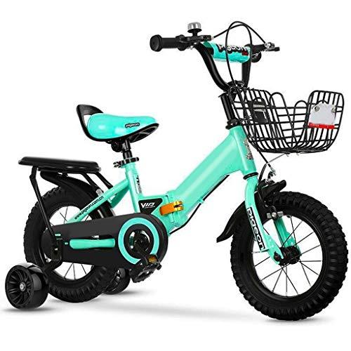 Xiaoping Fahrradklappfahrrad Der Kinder 2-3-4-6-7 Jahre Altes Jungenmädchenfahrrad Mit Hilfsrad (Size : 12in)