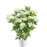 NAHUAA 4pcs Kunstpflanze Klein Plastikblumen Deko Pflanzen Künstliche Pflanze Blume im Topf Tischdeko Blumen für Valentinstag Vase Frühling Stuhl Balkon Garten Hochzeit
