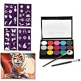 Pintura de resina epoxi UV, 15 colores, paleta profesional no tóxica, para el cuerpo, para la cara