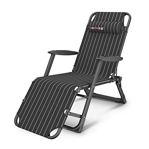 Sillón Plegable Sillas de salón Ajustables de Gravedad Cero Sillones reclinables Tumbonas para Patio, Piscina, Soportes, sillas de jardín