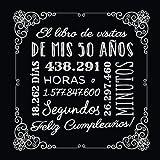 El libro de visitas de mis 50 años: Decoración vintage para el 50 cumpleaños – Regalos originales para hombre y mujer - 50 años - Libro de firmas para felicitaciones y fotos de los invitados