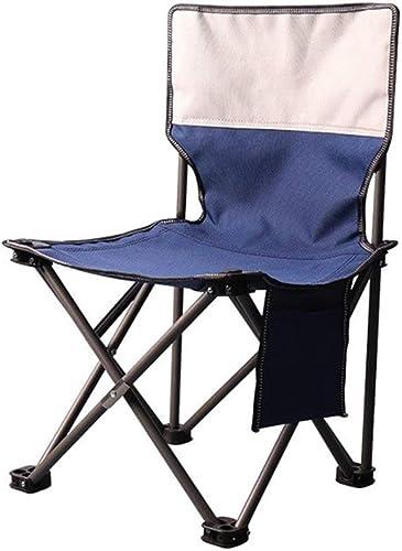 CSQ-Portable Chaises de Camping, Confortable épaissir Fauteuil De Jardin Chaise Tabouret Extérieur Pliant Tabouret Camping Chaise Portable avec Tabouret Pliable