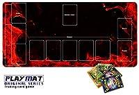 かっこいい ポケモンカード 専用 プレイマット とっても丈夫 高級感 厚手 ポケモンカード バトル シート デスクマット マウスパッド 3way Syaraku&GENESIS ppn05