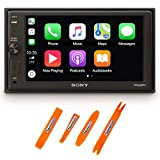 Sony XAV-AX1000 6.2' Compatible with CarPlay Media Receiver & Bluetooth Includes Creative Audio Panel Tool Kit