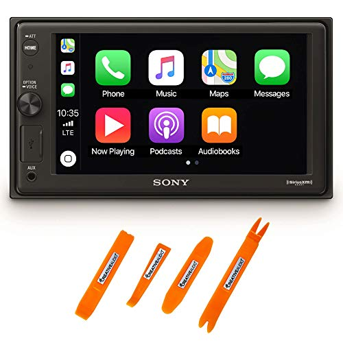 "Sony XAV-AX1000 6.2"" Compatible with CarPlay Media Receiver & Bluetooth Includes Creative Audio Panel Tool Kit"